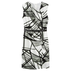 Powerline Print Dress