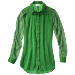 Long Sleeve Green Blouse